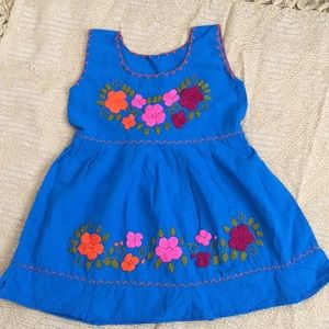 0877b72f0f2cf Mexican embroidered baby dress size 1 Year old